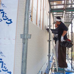 家づくりの流れ 10.外壁工事