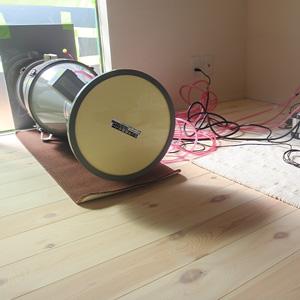 家づくりの流れ 16.気密測定