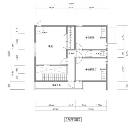 LIFEBOX 間取り事例|32プラン 7×9 ②