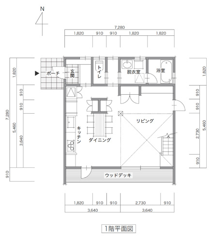 LIFEBOX 間取り事例|32プラン 8×8 ②