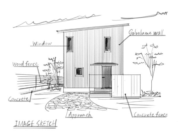 LifeBox MODEL HOUSE モデルハウス コンセプトイラスト