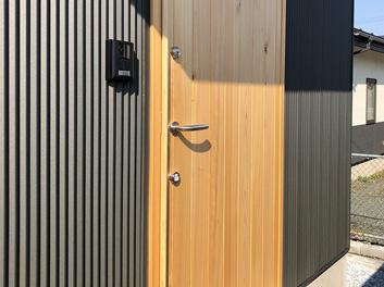 【玄関】檜玄関ドア|ユダ木工