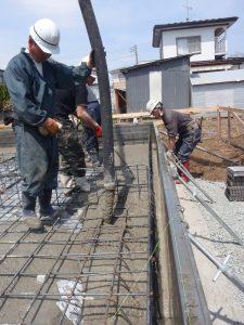 階上町 新築住宅 コンクリート打設 | 八戸の新築 グリーンホームズ