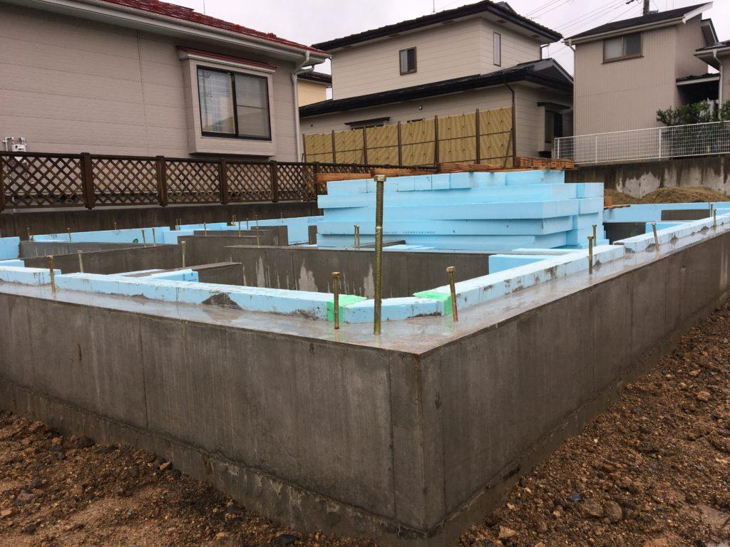 K様邸 基礎工事 八戸市 注文住宅