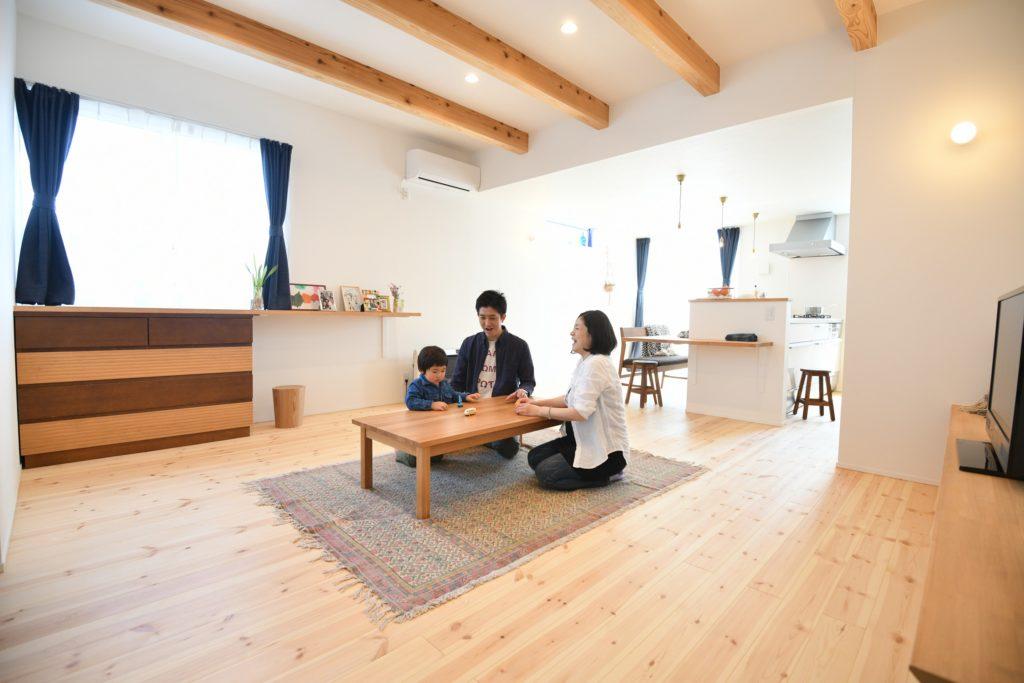 八戸市新築住宅のリビングダイニング 八戸市 平屋
