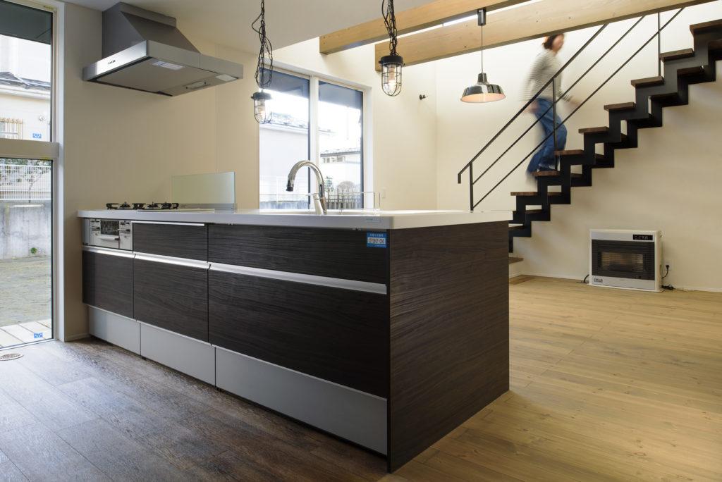 施工写真 キッチン|八戸 新築