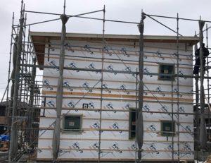 八戸市吹上外壁工事の写真|八戸市 工務店