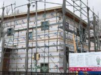 八戸市吹上、グリーンホームズの新築住宅外壁工事の写真|八戸市 工務店
