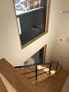 リビング階段の写真|八戸市 完成見学会