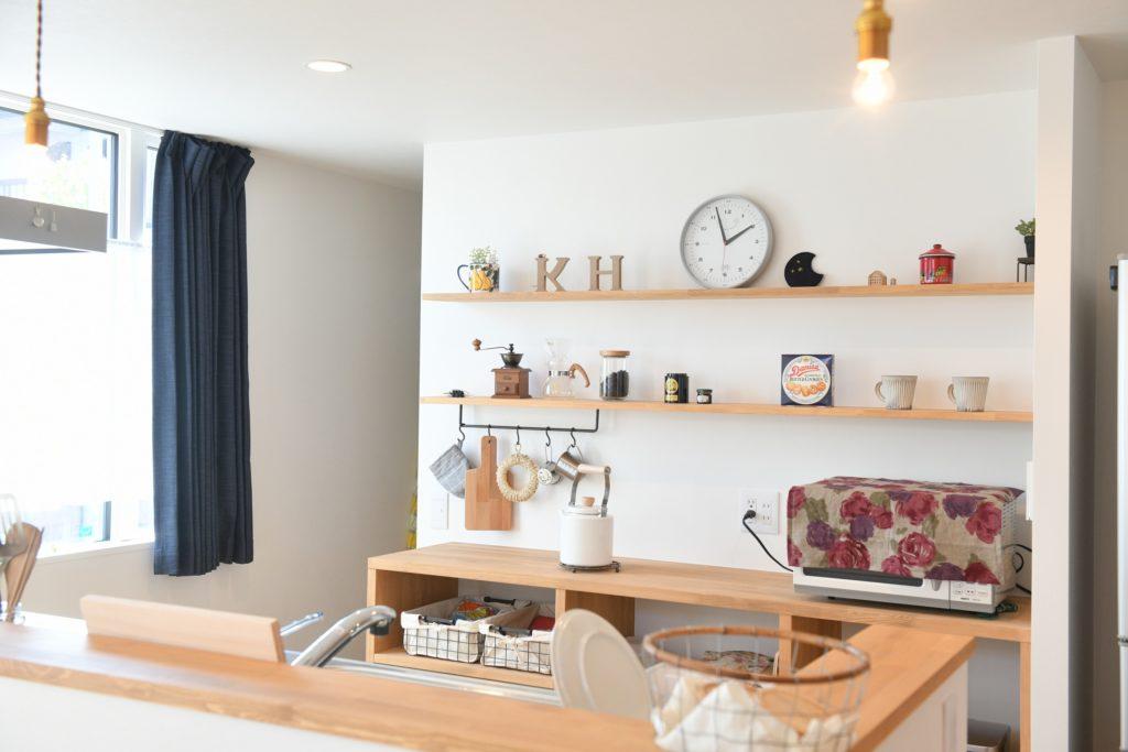 八戸市の新築住宅の造作棚・カップボード|八戸市 平屋