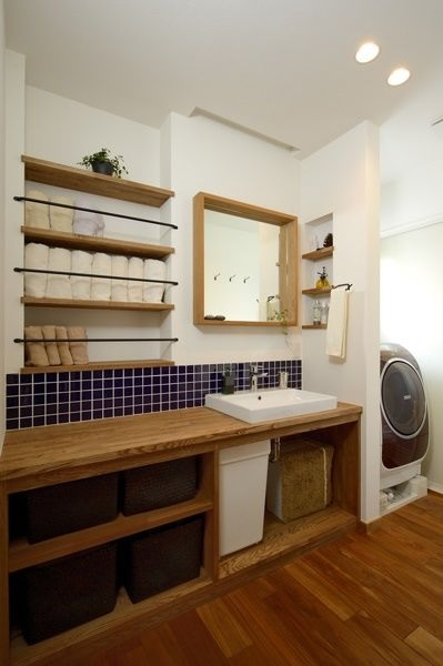 造作洗面所|八戸市 平屋