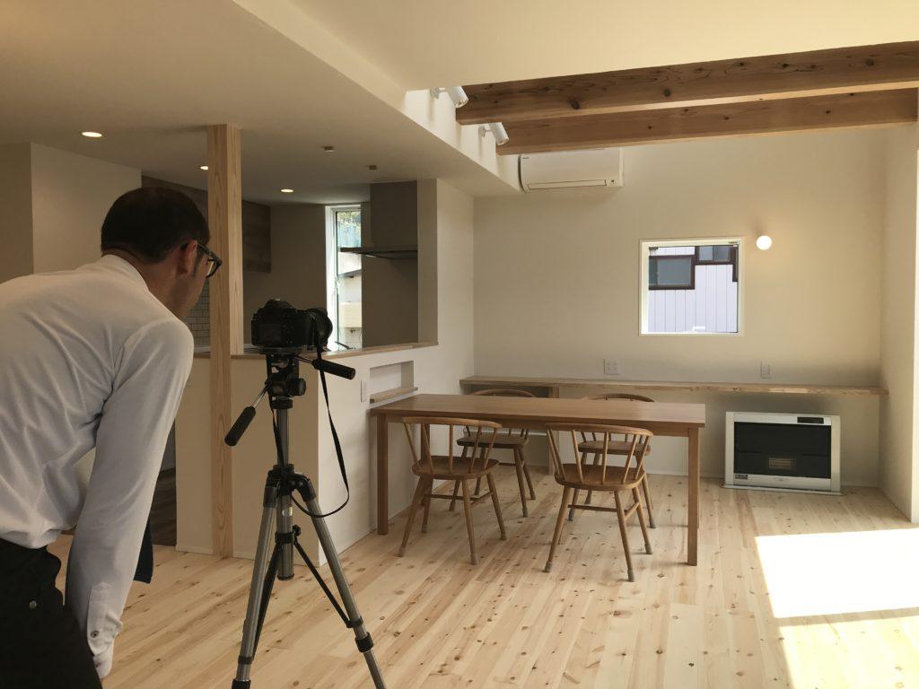 八戸市吹上の新築住宅の撮影風景|八戸市 注文住宅
