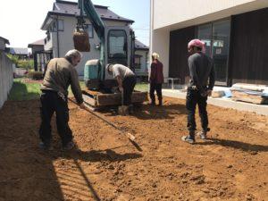 八戸市の南白山台の新築住宅の外構工事の写真|八戸市 工務店