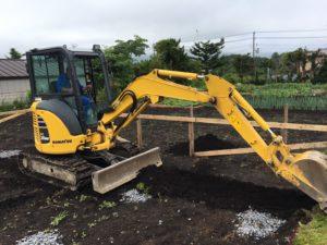 基礎工事 根切り|八戸市 新築住宅
