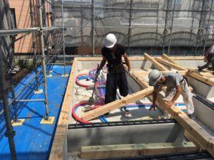 土台敷き|八戸市 工務店