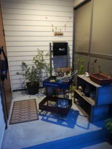 植物を土間に避難|八戸市 工務店