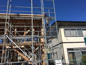 台風の後の新築住宅の施工中写真③|八戸市 工務店
