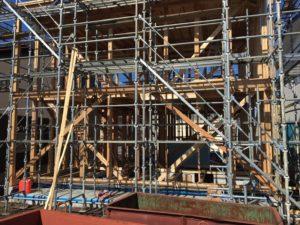 台風の後の新築住宅の施工中写真④|八戸市 工務店