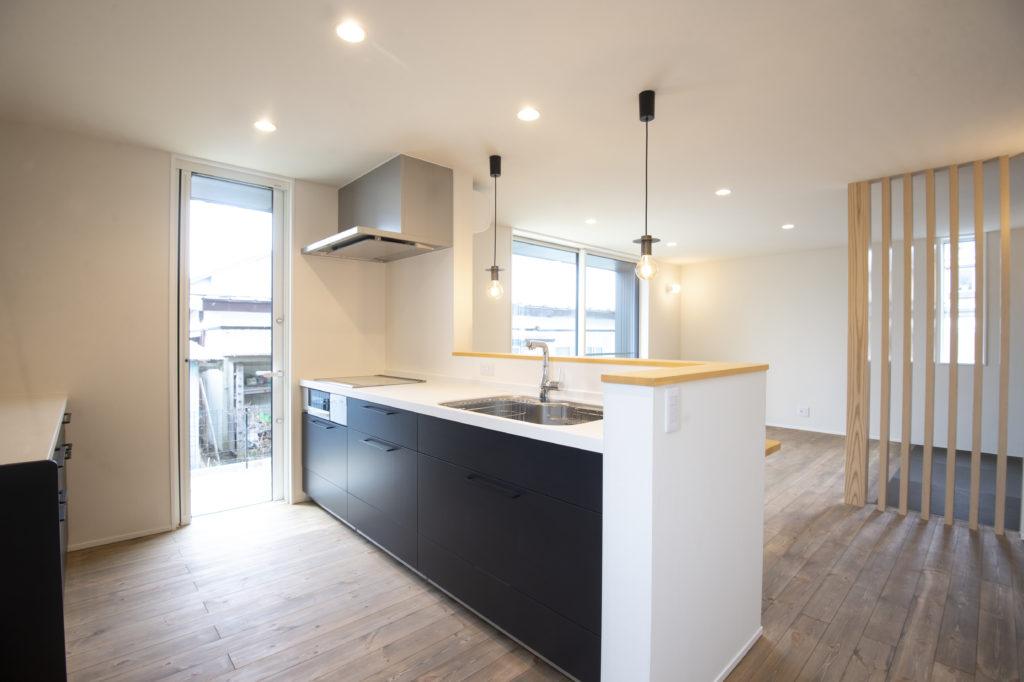 新築住宅のおしゃれなキッチン|八戸市 工務店