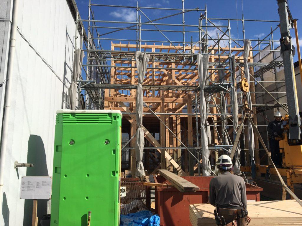八戸市 江陽の新築住宅の上棟式|八戸市 工務店
