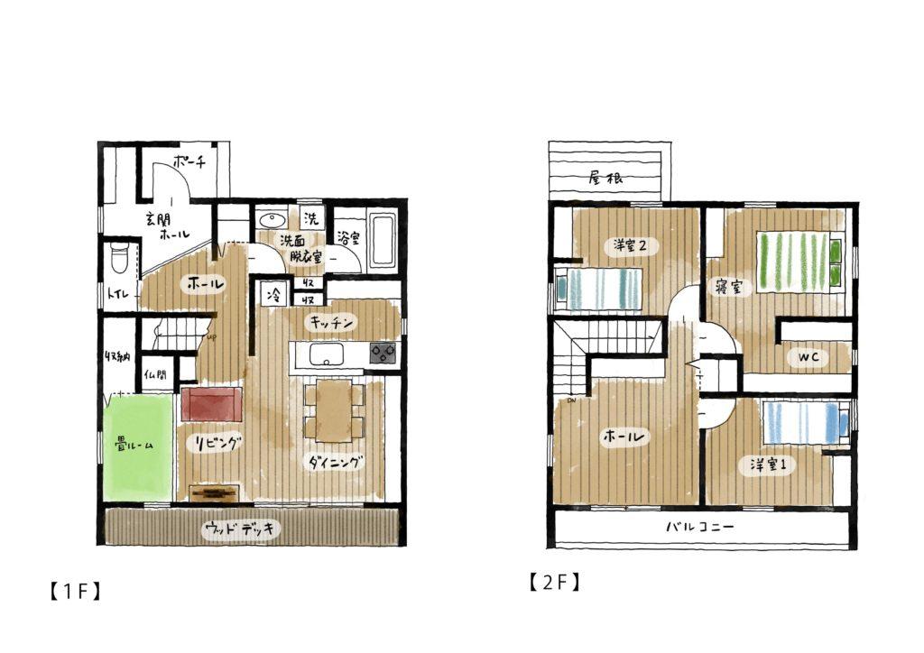 八戸市 新築住宅の間取り|八戸市 工務店