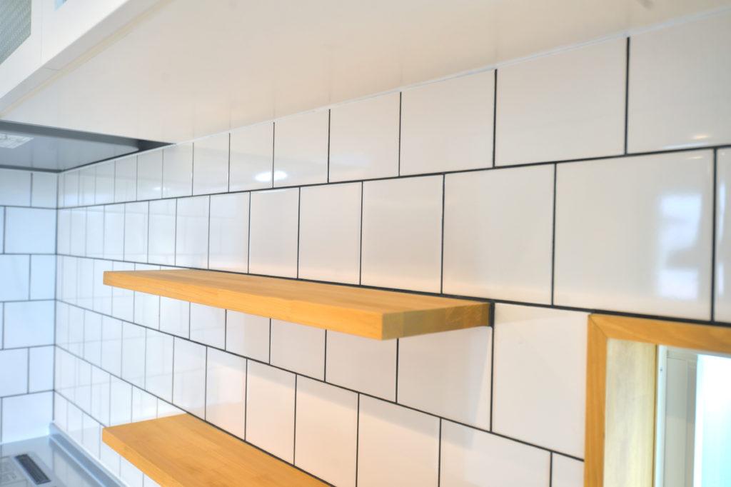 サブウェイタイルのキッチン|八戸市 新築住宅