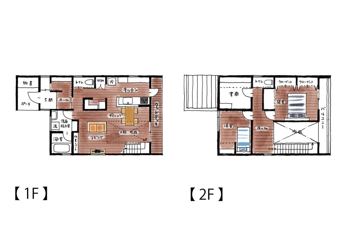 新築注文住宅の間取り|八戸市 完成見学会