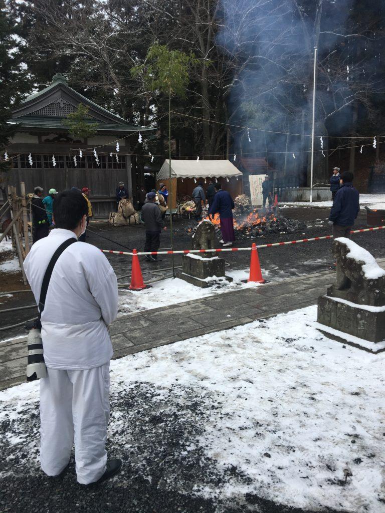 お焚き上げ 小田八幡宮|八戸市 工務店