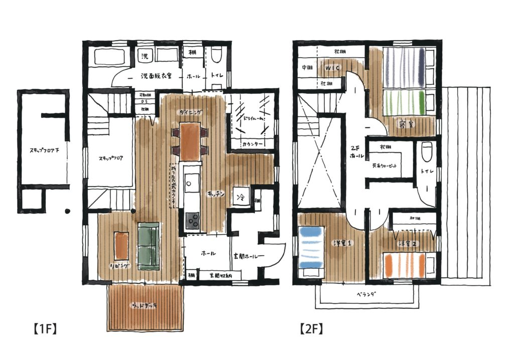 新築住宅の間取り|八戸市 工務店