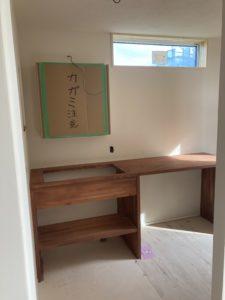 造作の洗面化粧台|八戸市 新築住宅