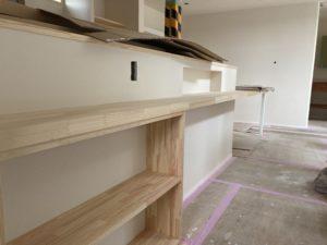 造作のダイニングテーブル|八戸市 新築住宅
