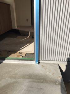玄関土間に文字|八戸市 新築住宅