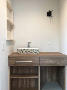造作の洗面化粧台|八戸市 注文住宅