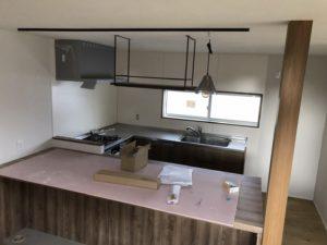 コの字型キッチン|八戸市 新築住宅