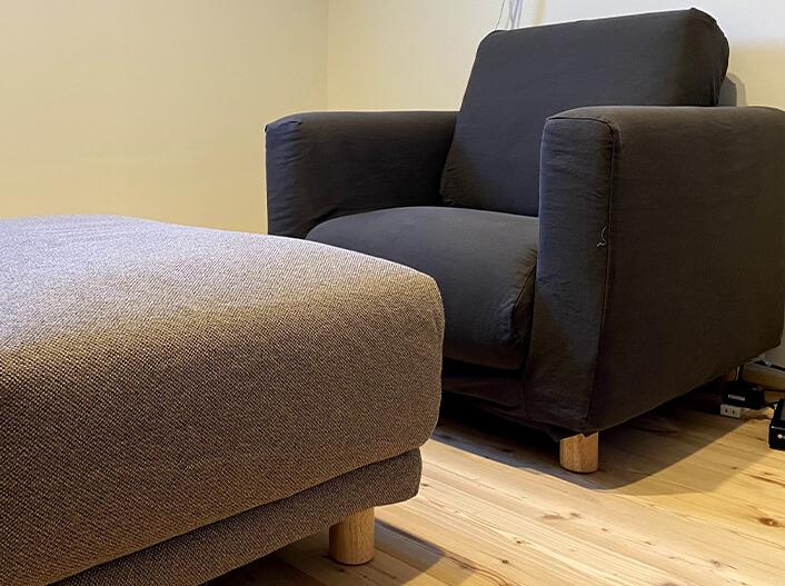 そのまま住める設備・家具 シアタールームソファ・オットマン