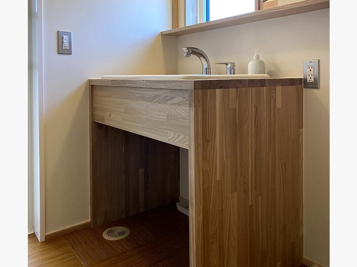 そのまま住める設備・家具|造作洗面化粧台