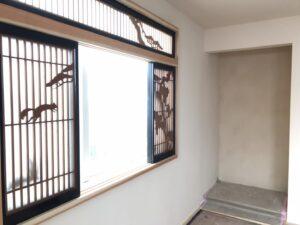 おいらせ町完成見学会の飾り戸|八戸市 見学会