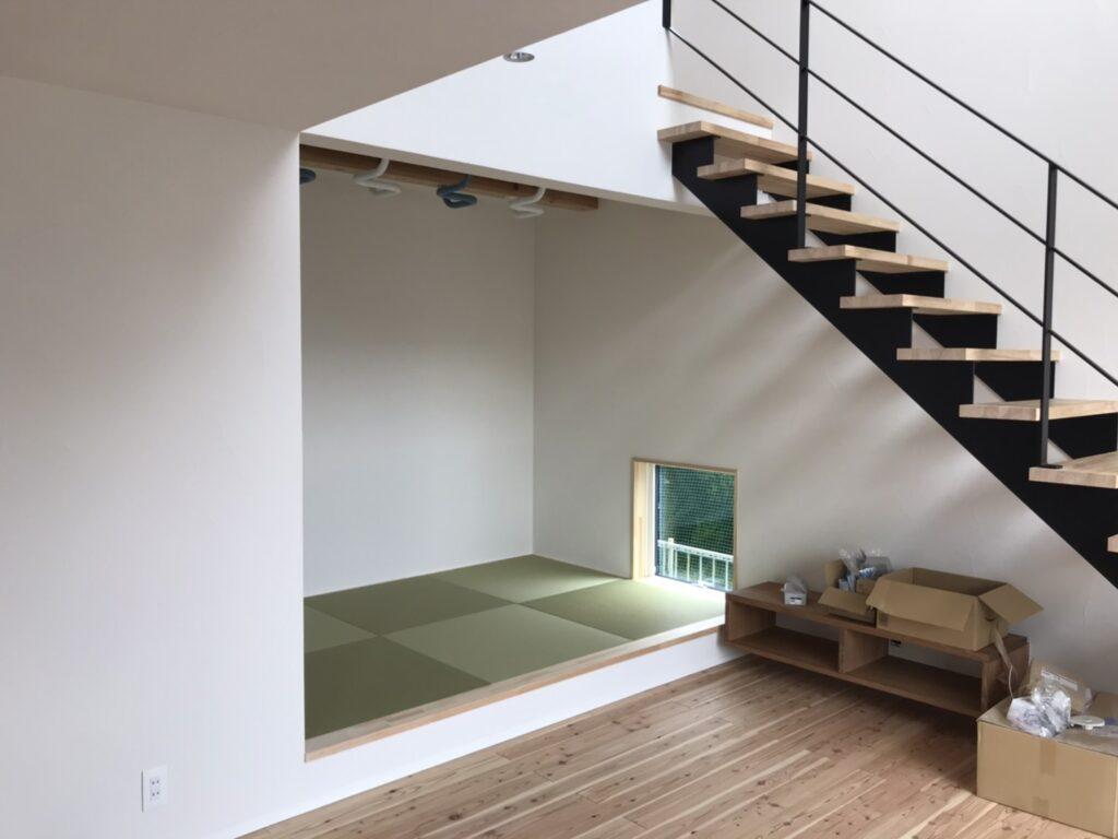 リビングに小上がりの和室|八戸市 工務店