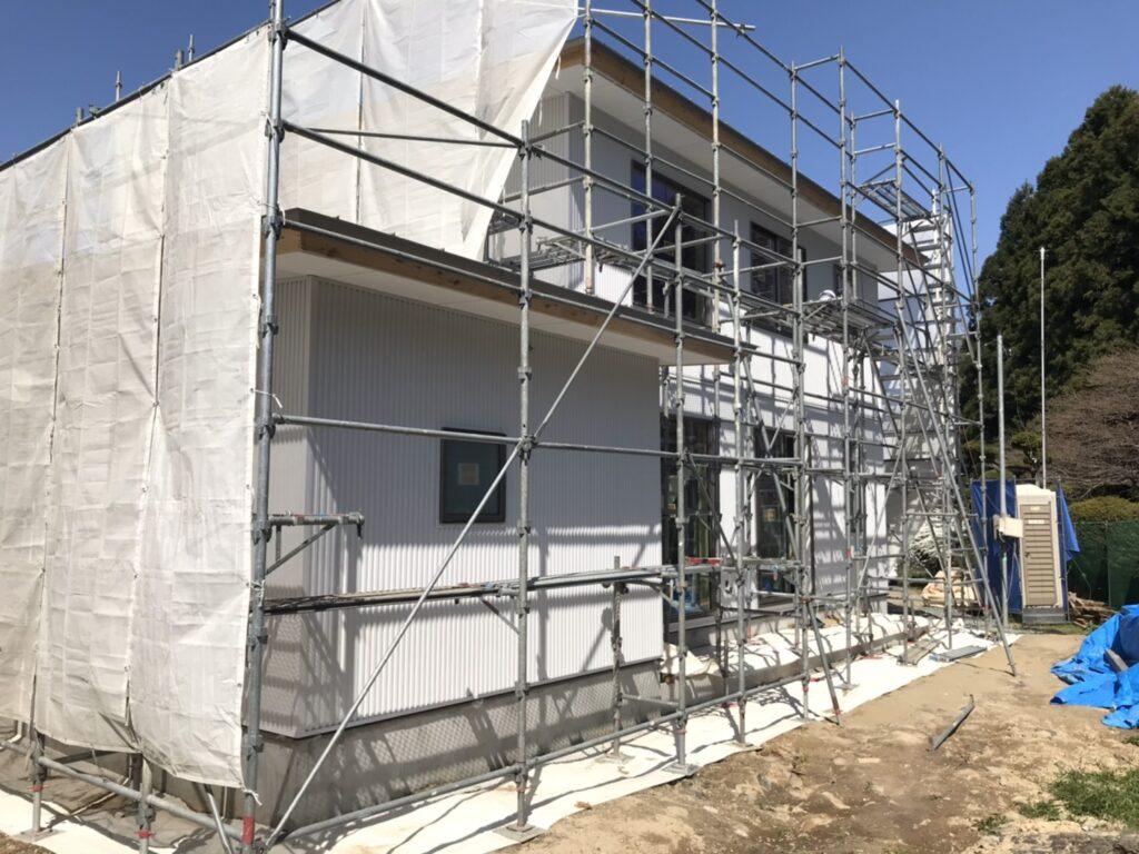 八戸市 新築住宅の白い外壁|八戸市 工務店