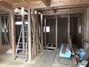 新築住宅の木工事 八戸市工務店