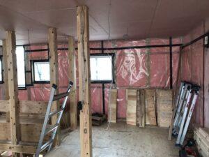 新築住宅 天井のボードはり|八戸市 新築住宅