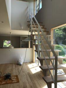 新築住宅のリビング階段|八戸市 工務店