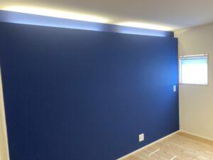 2階の寝室の間接照明 八戸市 工務店