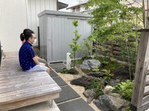 M様ご夫婦とお庭 八戸市 新築住宅