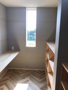 本棚がある書斎|八戸市 新築住宅