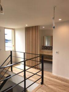 2階の洗面ルーム 八戸市 工務店