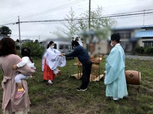 十和田市S様邸の新築住宅の地鎮祭 八戸市 工務店