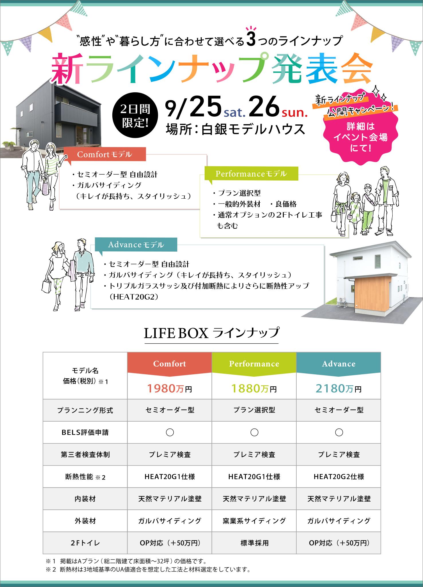 新ラインナップ発表会|八戸市 新築住宅